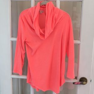 Bright coral workout top